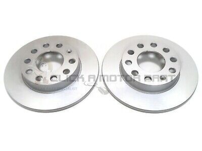 AUDI A4 1.9 TDI B6 2001-2004 REAR 2 BRAKE DISCS SET SOLID 245MM