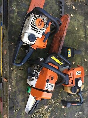 Stihl Chainsaws And Hedge trimmer Job Lot