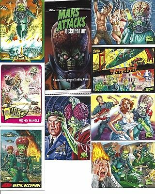 MARS ATTACKS OCCUPATION SEALED PACK OF 5 CARDS..randomly inserted special chase