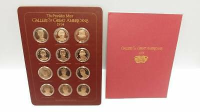 Franklin Mint Gallery Of Great Americans 1974 Solid Bronze 1st Edition Proof Set