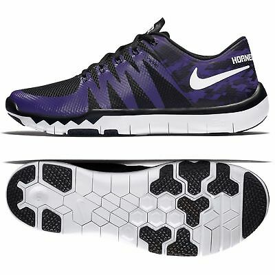 55a02696c3e1 Nike Free Trainer 5.0 V6 AMP Sneakers Purple Black Texas Horned Frogs  723939-510