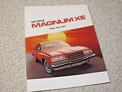 1978 Canadian Dodge Magnum Xe Sales Brochure...