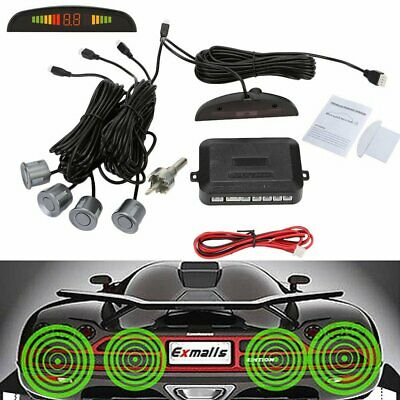 Front and Rear Car Reverse Parking 4 Sensors Kit Buzzer Alarm Audio System
