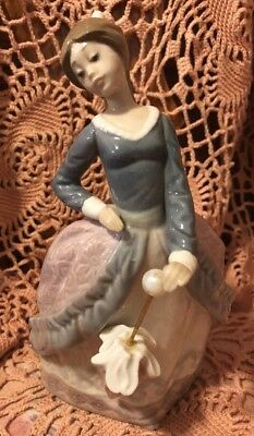 Lladro Evita 5212 Retired Porcelain Figurine Girl With Parasol