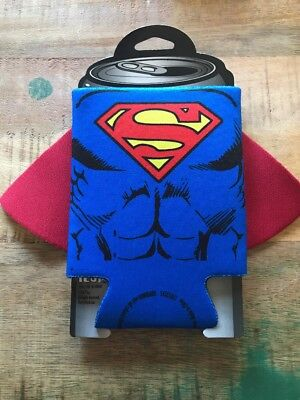 Superman Caped Character Koozie Huggie Can Cooler