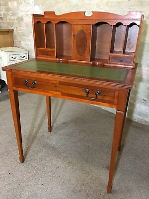 Yew Wood Ladies Desk With Leather Top