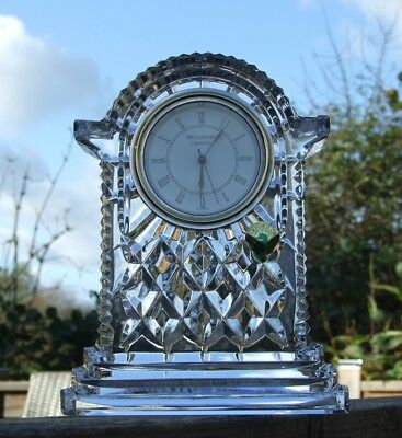 Waterford Crystal - Large Glass Carriage Mantel Clock