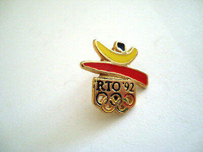 PINS VINTAGE SPORT RTO 92 JEUX OLYMPIQUES BARCELONE OLYMPIC GAMES SPAIN wxc h