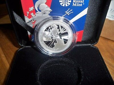 THE 2017 UK BRITANNIA 1oz SILVER PROOF £2 COIN WITH C.O.A IN PERFECT CONDITION