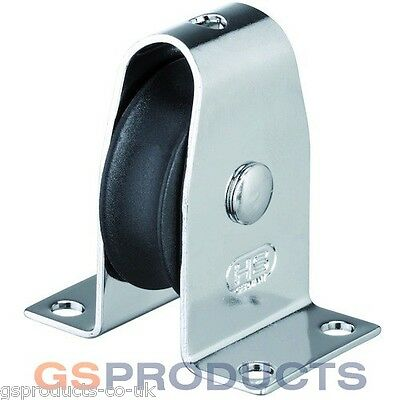 HS Sprenger Stainless Steel Stand Up Upright Pulley Block with Nylon Wheel