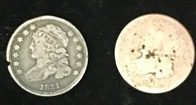 Lot of 2 Capped Bust Dimes, 1831 & 1836 - No Reserve!!!