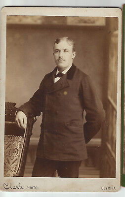 Handsome Young Man from Olympia Washington Cabinet photo by Clark