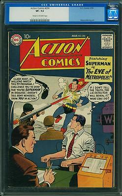 ACTION COMICS #250 CGC 7.5 Superman 1959.