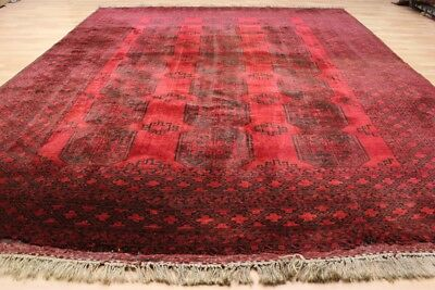 Alter Art Deco AFGHAN Buchara - Orient TEPPICH Old Rug Carpet 330x250cm #0465