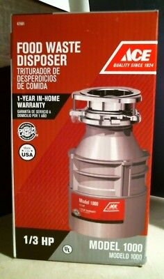 ACE 47981 Food Waste Disposer, Model 1000, 1/3 HP, FREE SHIP