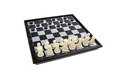 Magnetic Board Game (Mini Travel Size): Chess, Checkers - Magnetic Game Pieces,