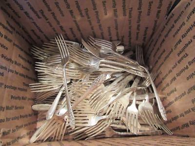 Huge Lot Antique Silverplate Spoons 10 Pounds