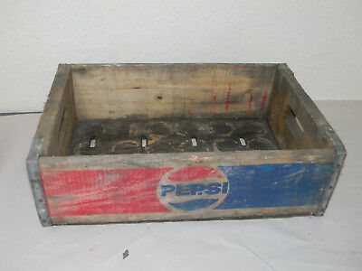 Buffalo Ny Pepsi Cola  Bottle Crate Vintage Wooden Caddy Carrier Advertising