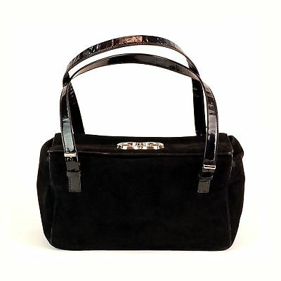 18d0d7accc Escada vintage black suede bag purse handbag designer jpg 400x400 Black escada  purse