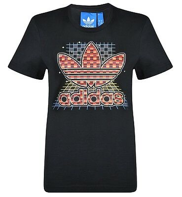 New - Men's Adidas Originals Trefoil Logo T-Shirt Top - Black