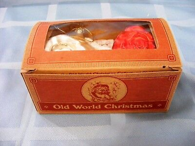 Old World Christmas Ornaments, Roses; Hand Blown Christmas Ornament