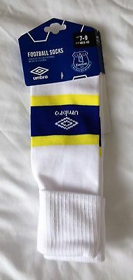 Everton FC 2016/17 Men's  Home Socks Size 7-9  Brand New on Umbro Card Header