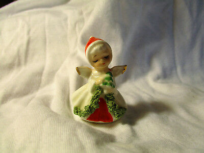 Vintage NAPCO Napcoware Bone China Miniature Angel Figurine Christmas EXCELLENT!