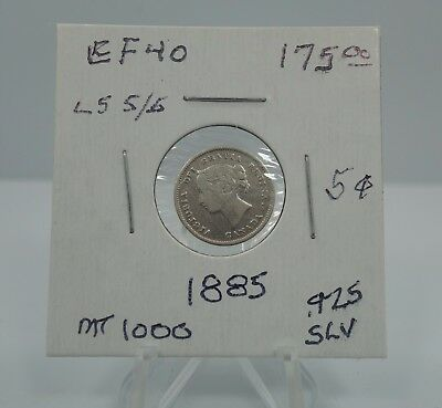 1885 Canadian 5 Cents .925 Silver Half Dime 5c - You Grade It - Z13