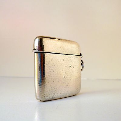 Antique Silver Match Safe Vesta Case Box c1920s Marked