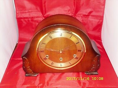 Vintage 8Day Westminster Chime Mantle Clock By Bentima