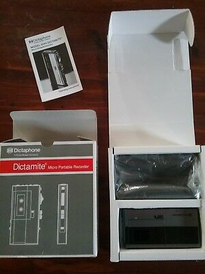 DICTAPHONE Dictamite Micro Portable VOICE RECORDER Dictation Model 3243