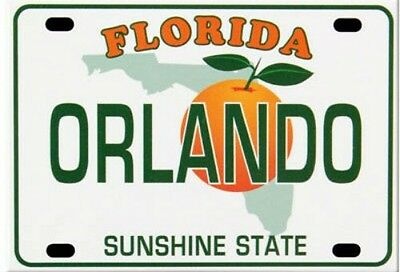 "Orlando Florida License Plate Fridge Collector's Souvenir Magnet 2.5"" X 3.5"""
