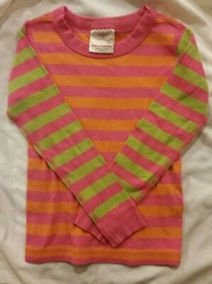 Hannah Andersson Organic Cotton Pink Sz 110  US 5 striped Pajama Top