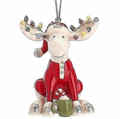 Lenox Marcel The Bedtime Moose 2017 Ornament Limited Edition NEW in Box