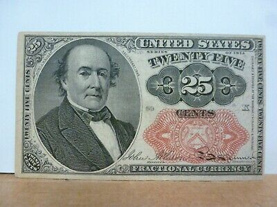 1874 Robert Walker 25 Cents Fractional Currency - Fr.1309 5th Issue