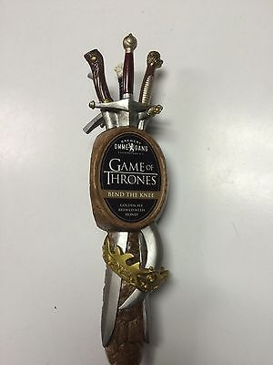 """Ommegang Brewery GAME OF THRONES """"Bend The Knee"""" Tap Handle ~ NEW~"""
