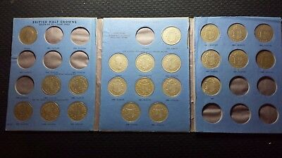 1941-1967 Half Crown Whitman Folder with 22 coins
