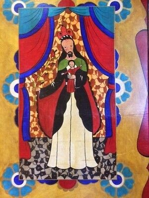 XLARGE Saint Anthony of Padua Folk Art Retablo/Painting from Santa Fe, NM