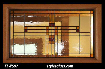 Stained glass window / Transom    FLW 597