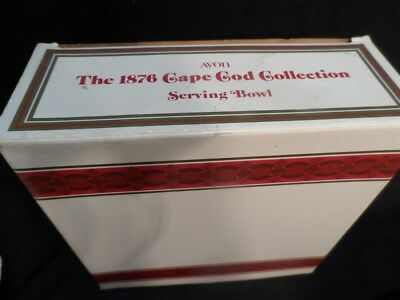 Avon 1876 CAPE COD Collection Ruby Red  Glass  Serving Bowl With Box