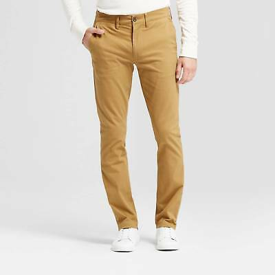 Men's Skinny Fit Hennepin Chino Pants - Goodfellow & Co™ Light Brown 32X30