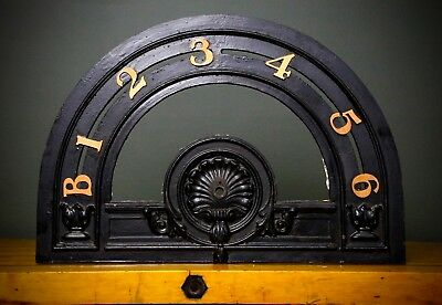 Antique Cast Iron Jail ELEVATOR FLOOR INDICATOR Brass Numbers Architectural Old