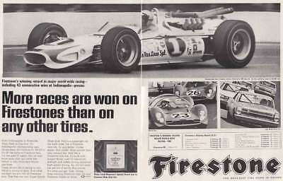 1967 Firestone: Indianapolis, More Races Are Won Vintage Print Ad