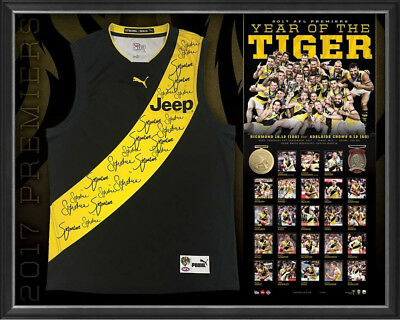 Richmond 2017 Afl Premiers Squad Signed Guernsey Jumper Jersey With Certificate