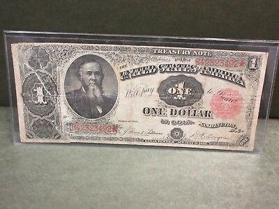 $1 Series 1891 Treasury (Coin) Note in nice circulated condition