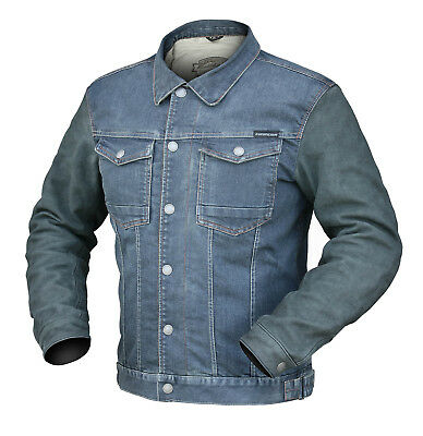 Dririder Memphis denim mens motorcycle jacket blue ALL SIZES