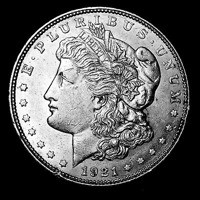 1921 D ~**ABOUT UNCIRCULATED AU**~ Silver Morgan Dollar Rare US Old Coin! #573