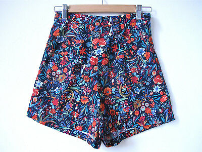 Womens floral high waisted 50's Shorts vintage rockabilly retro sizes 16L 18L