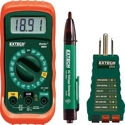 Electrical Test Kit Multimeter Non-Contact Voltage Detector Receptacle Tester