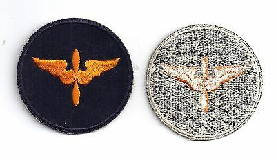 Wwii Us Army Air Corps Air Force Black Cadet Shoulder Patch Insignia Ww2 Usaac